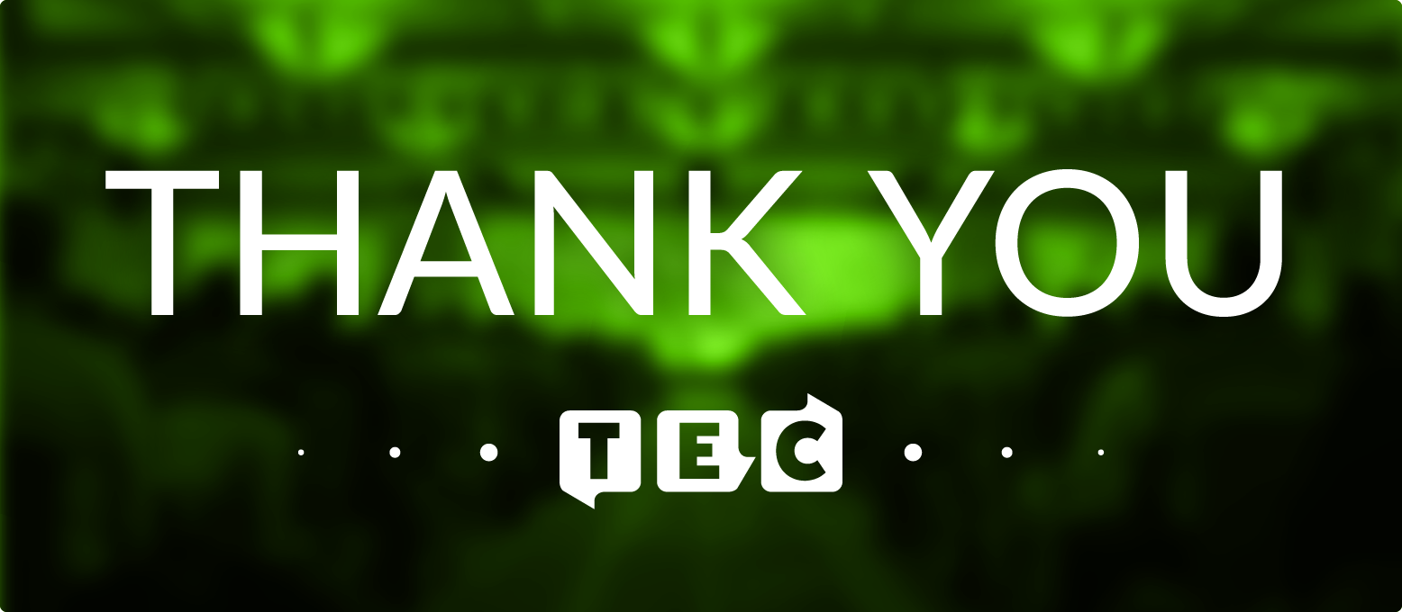 TEC Thank you blog