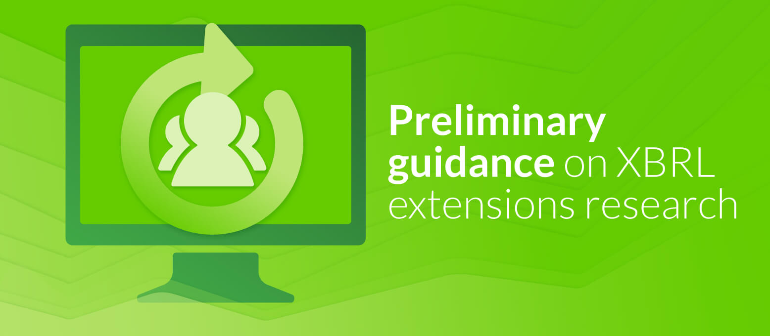 Preliminary guidance on XBRL extensions research