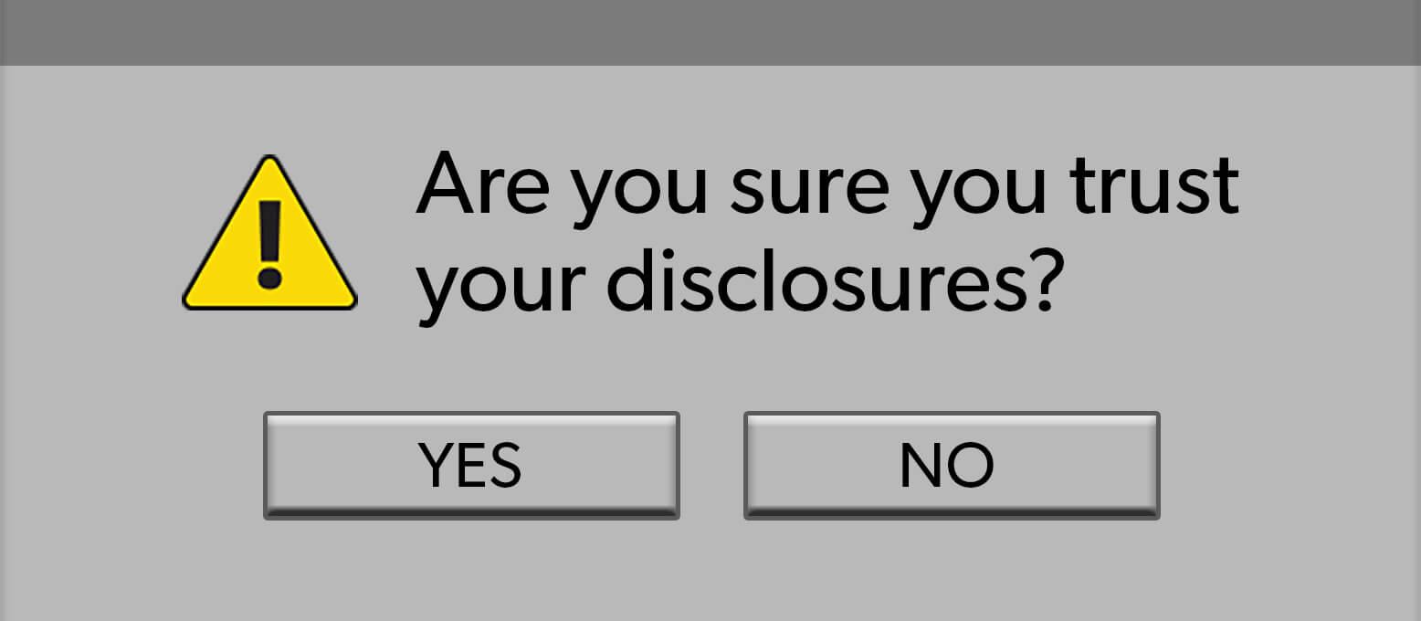 Accuracy in disclosure data