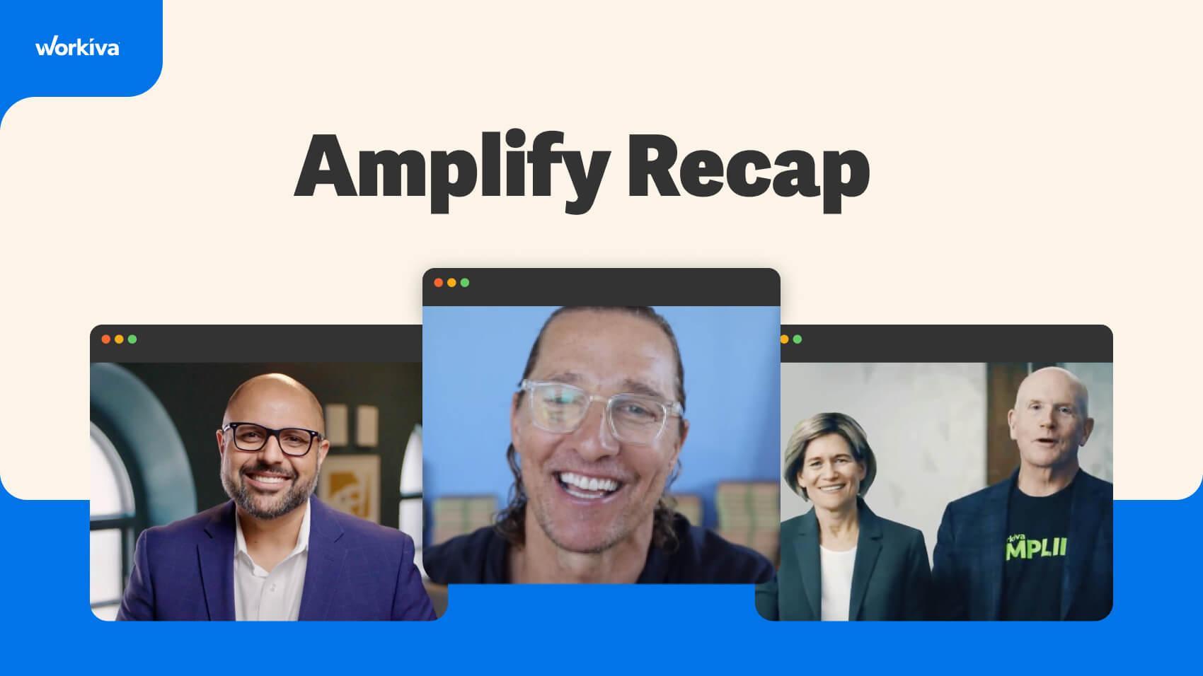 Amplify Recap