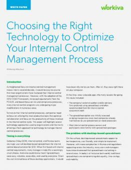 Choosing technology for internal controls management