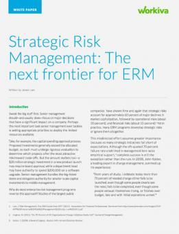 The next frontier for erm