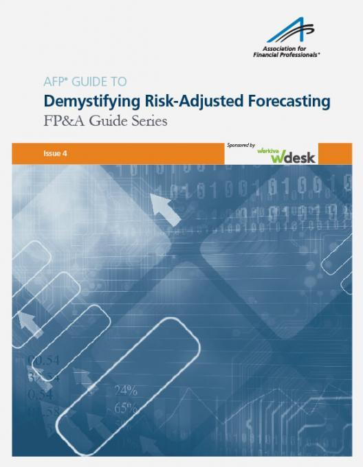 AFP Guide to demystifying risk adjusted forecasting