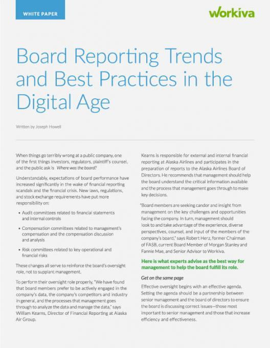 board reporting trends and best practices
