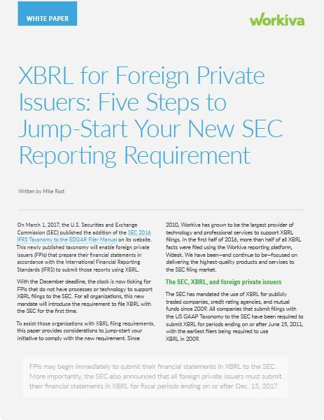 ifrs xbrl foreign private issuers