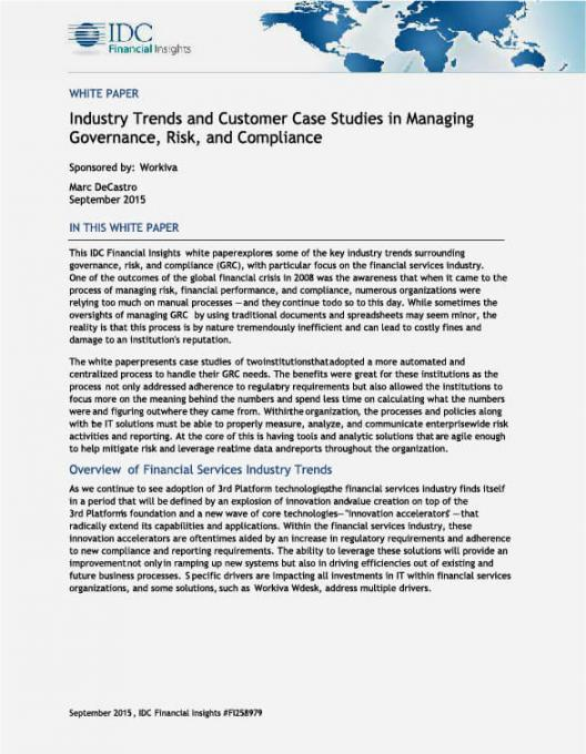 Industry trends in managing governance, risk, and compliance