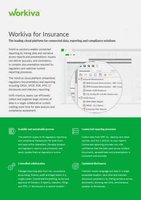Insurance datasheet