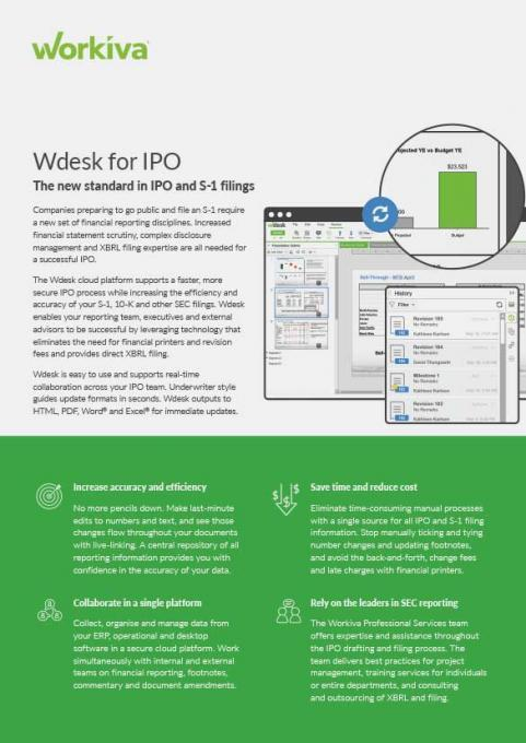workiva for ipo datasheet