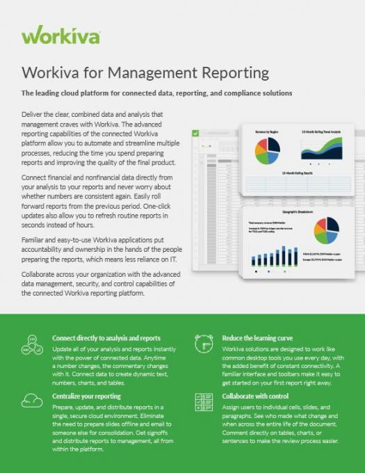 Management Reporting Datasheet