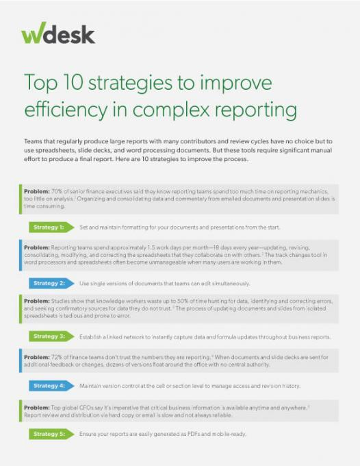 top 10 strategies to improve complex reporting