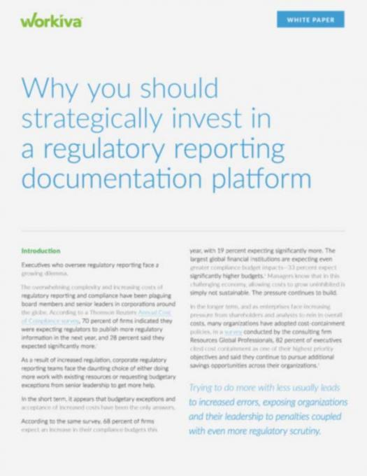 Why you should strategically invest in a regulatory reporting documentation platform