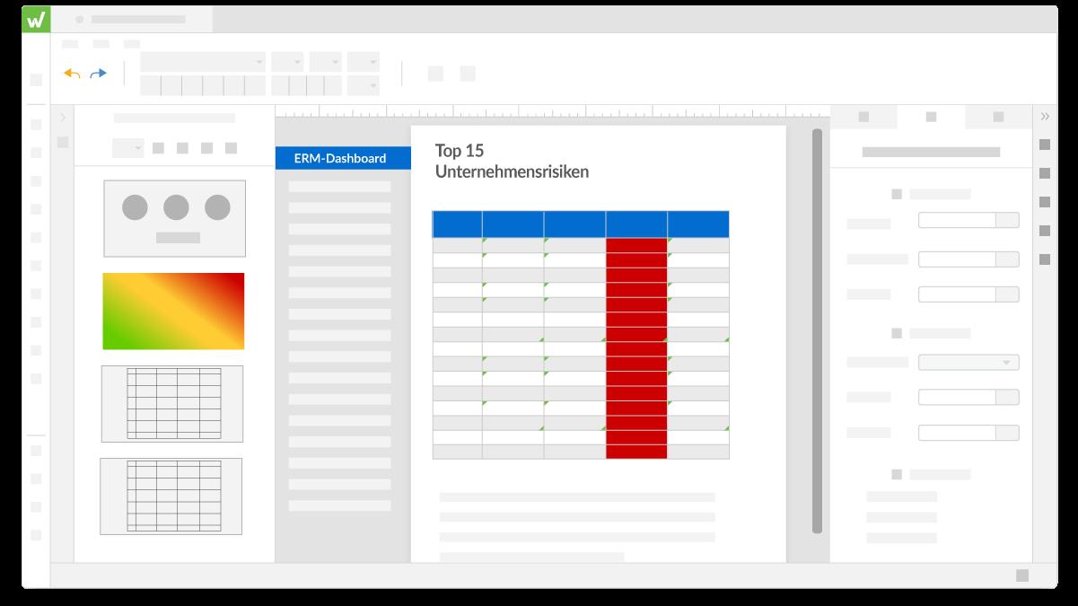 Workiva-Plattform ERM-Dashboard