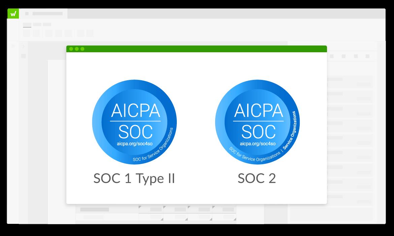 Logos SOC 1 et SOC 2
