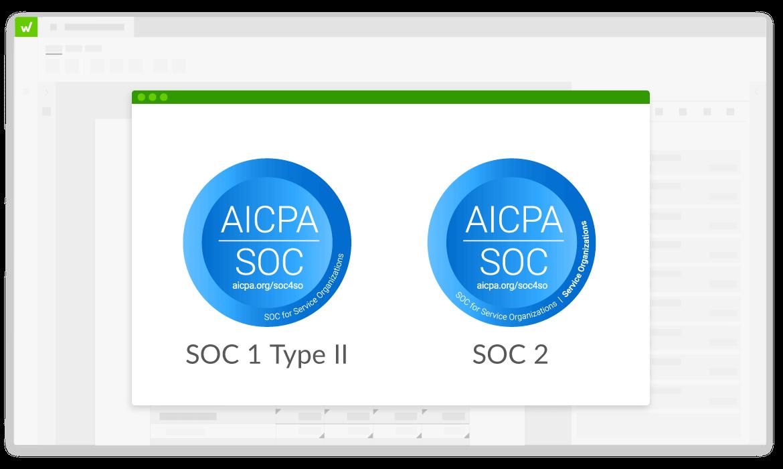 SOC 1 and SOC 2 logos