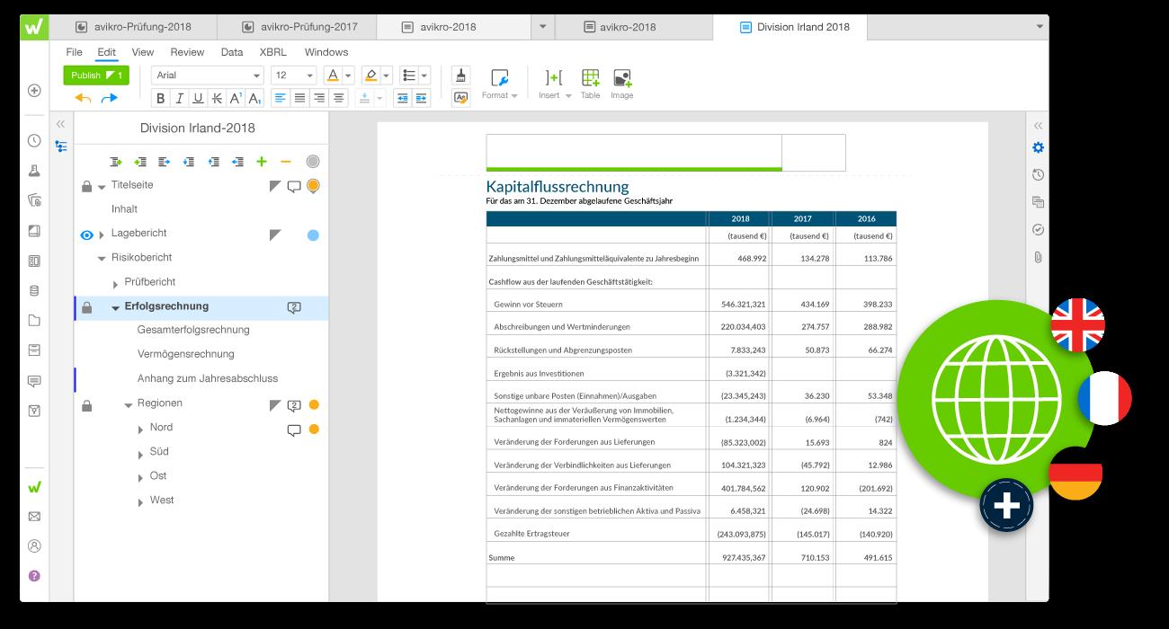 Beispiel Workiva-Plattform Berichtspflichten