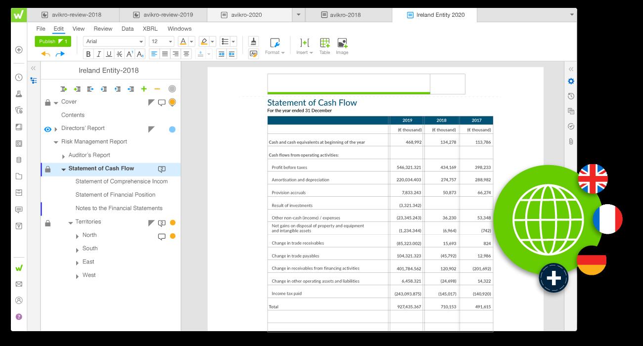 workiva platform statutory reporting example