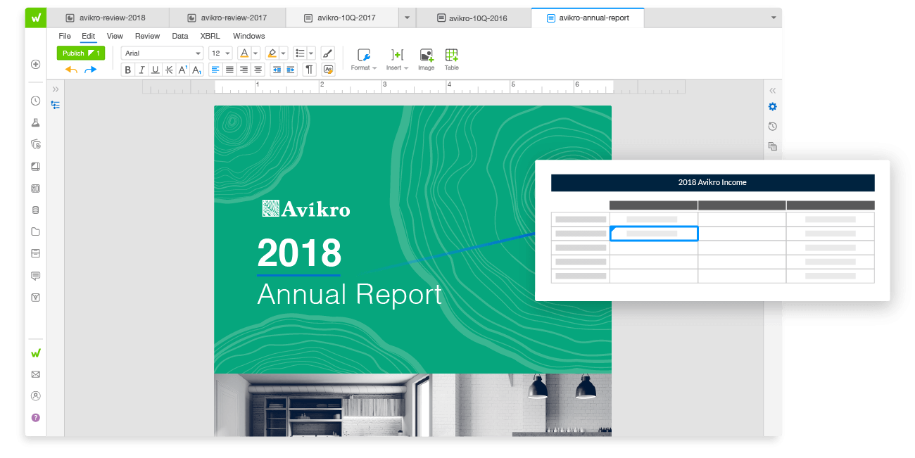 Annual Reporting Solution