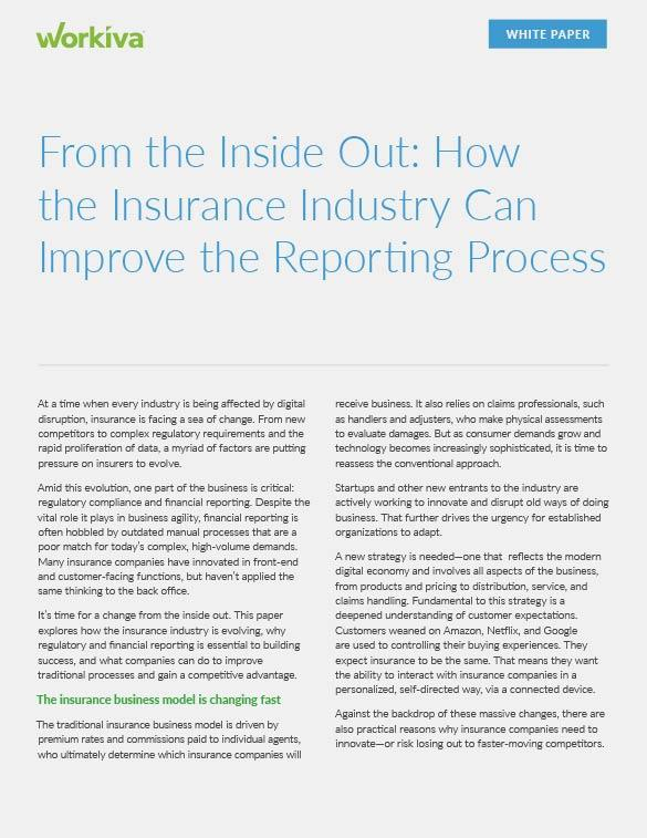 Process Improvement for the Insurance Industry