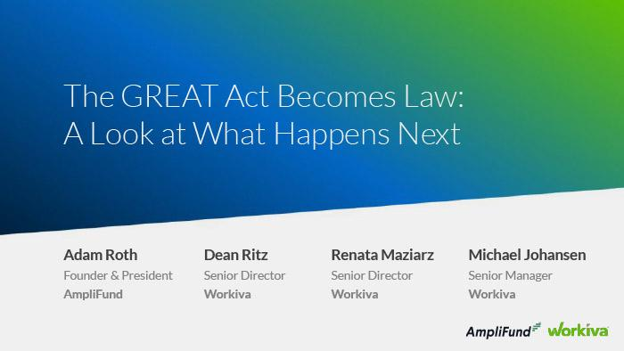 the GREAT Act Becomes Law Webinar