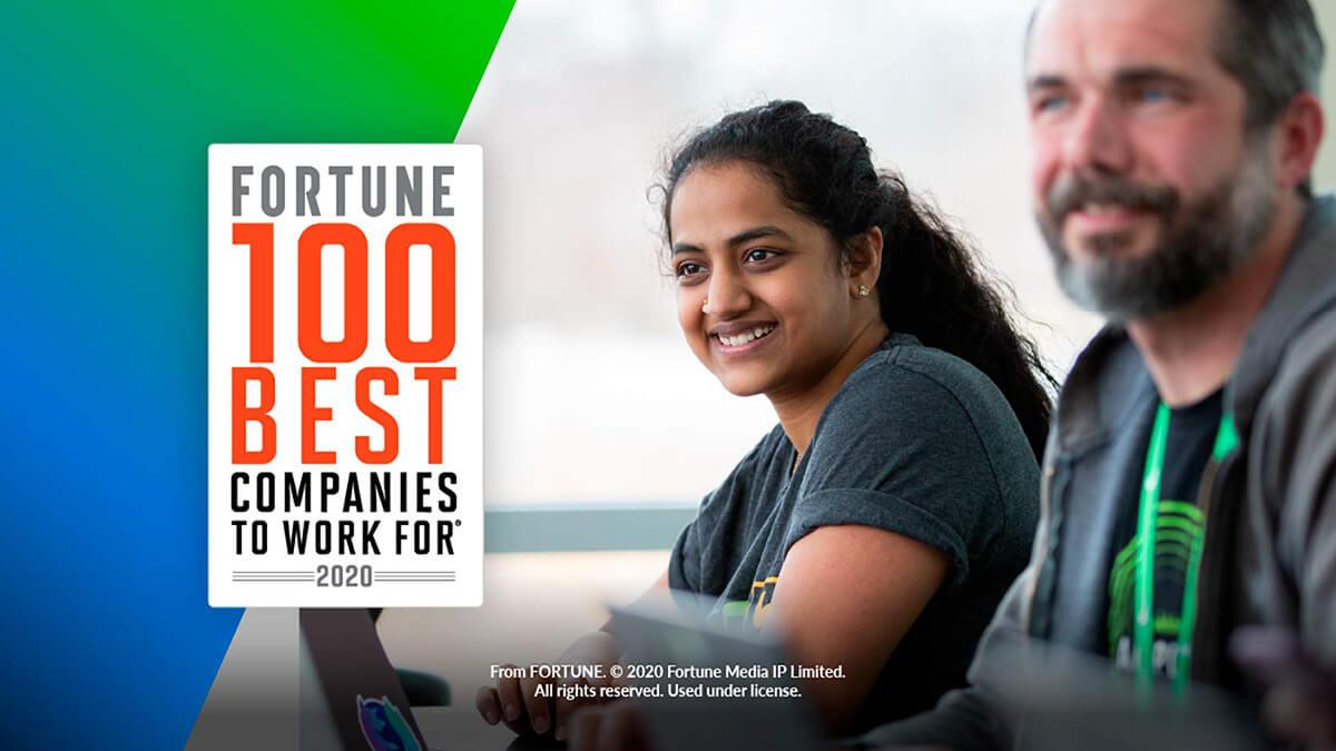 Vermögen 100 besten Unternehmen, für die man arbeiten kann