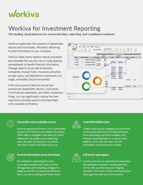 Shareholder Reporting Datasheet