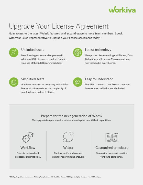 Upgrade Your License Agreement
