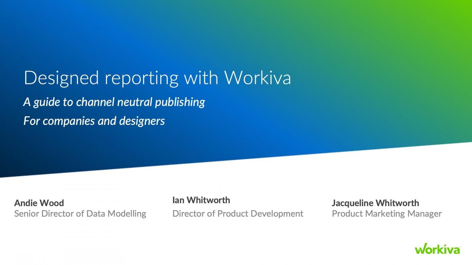 Designed Reporting Webinar