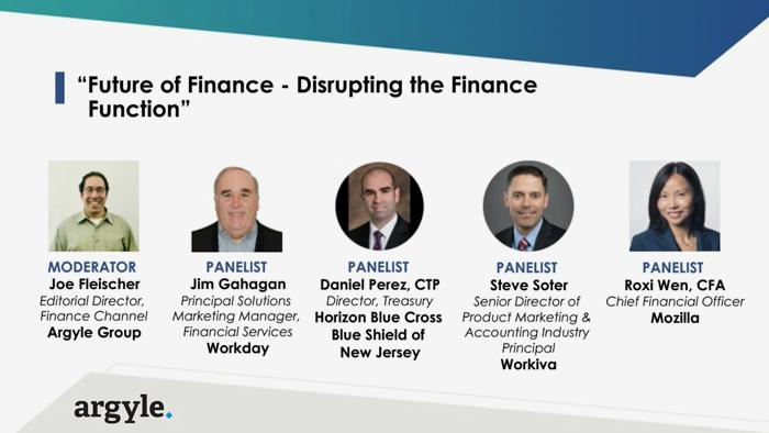 Future of Finance: Disrupting the Finance Function Webinar Panel