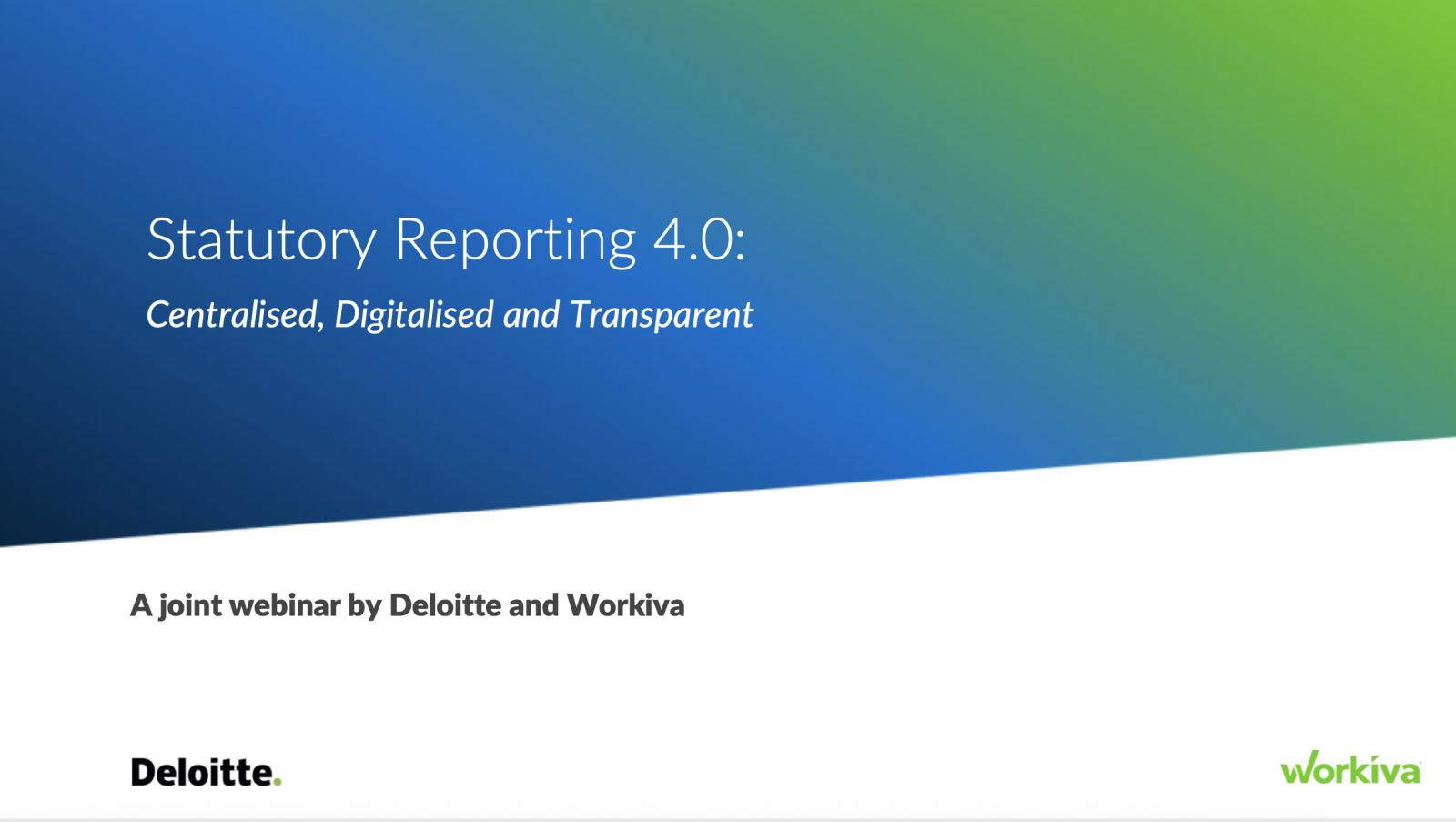 Statutory Reporting 4.0