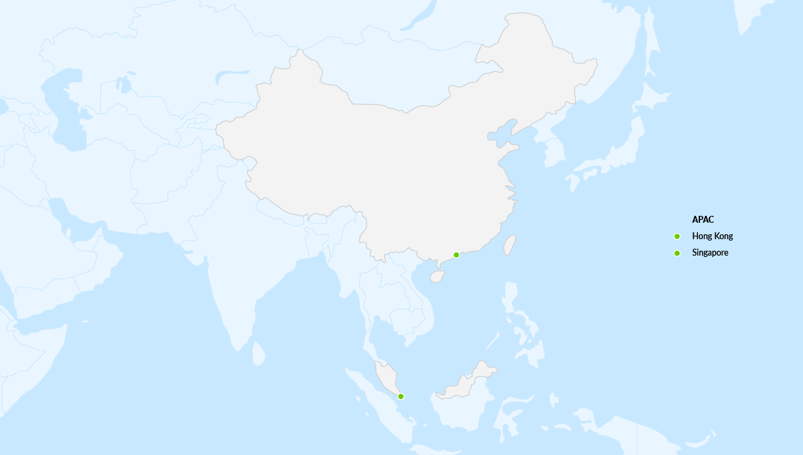 map showing density of workiva employees across asia pacific offices