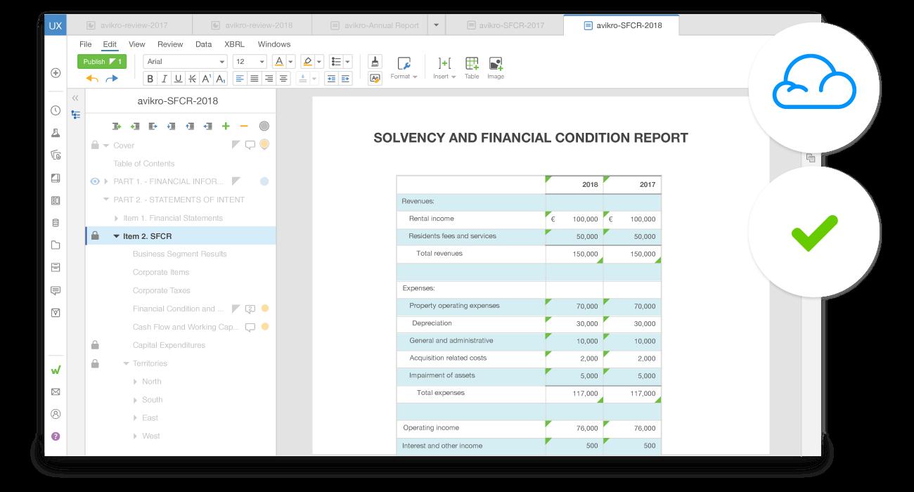 insurance reporting in the workiva platform