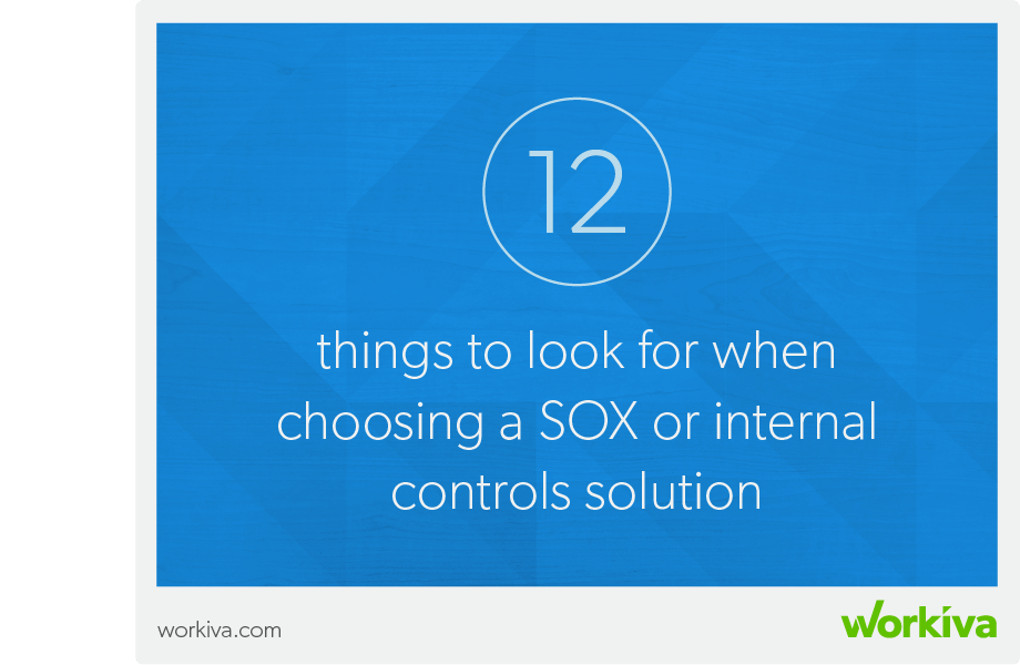 12 things to look for when choosing a sox solution