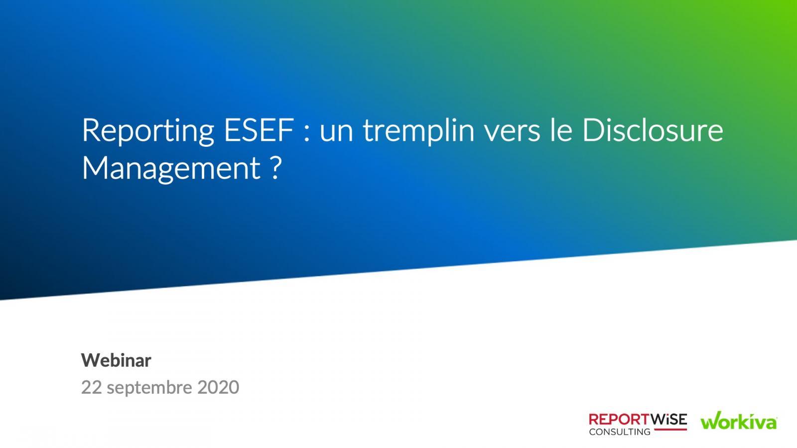 Reportwise ESEF