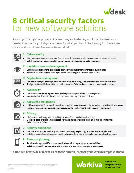 Critical security factors to consider