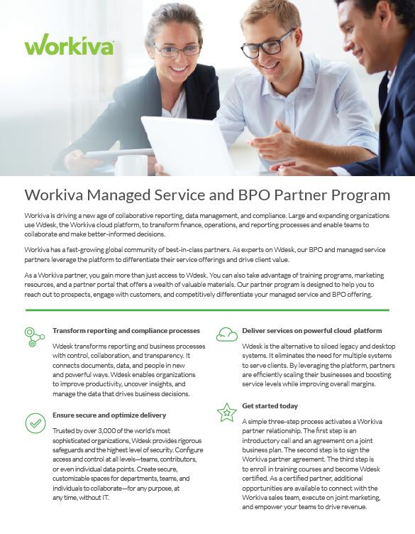 Managed Service and BPO Partner Program Datasheet