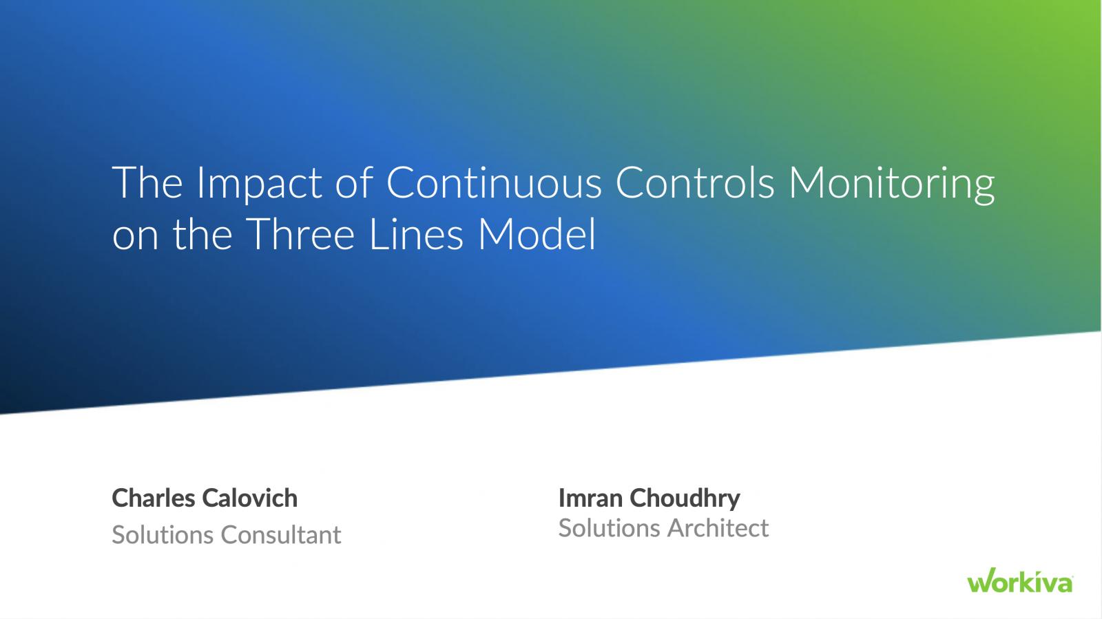 Continuous controls monitoring webinar