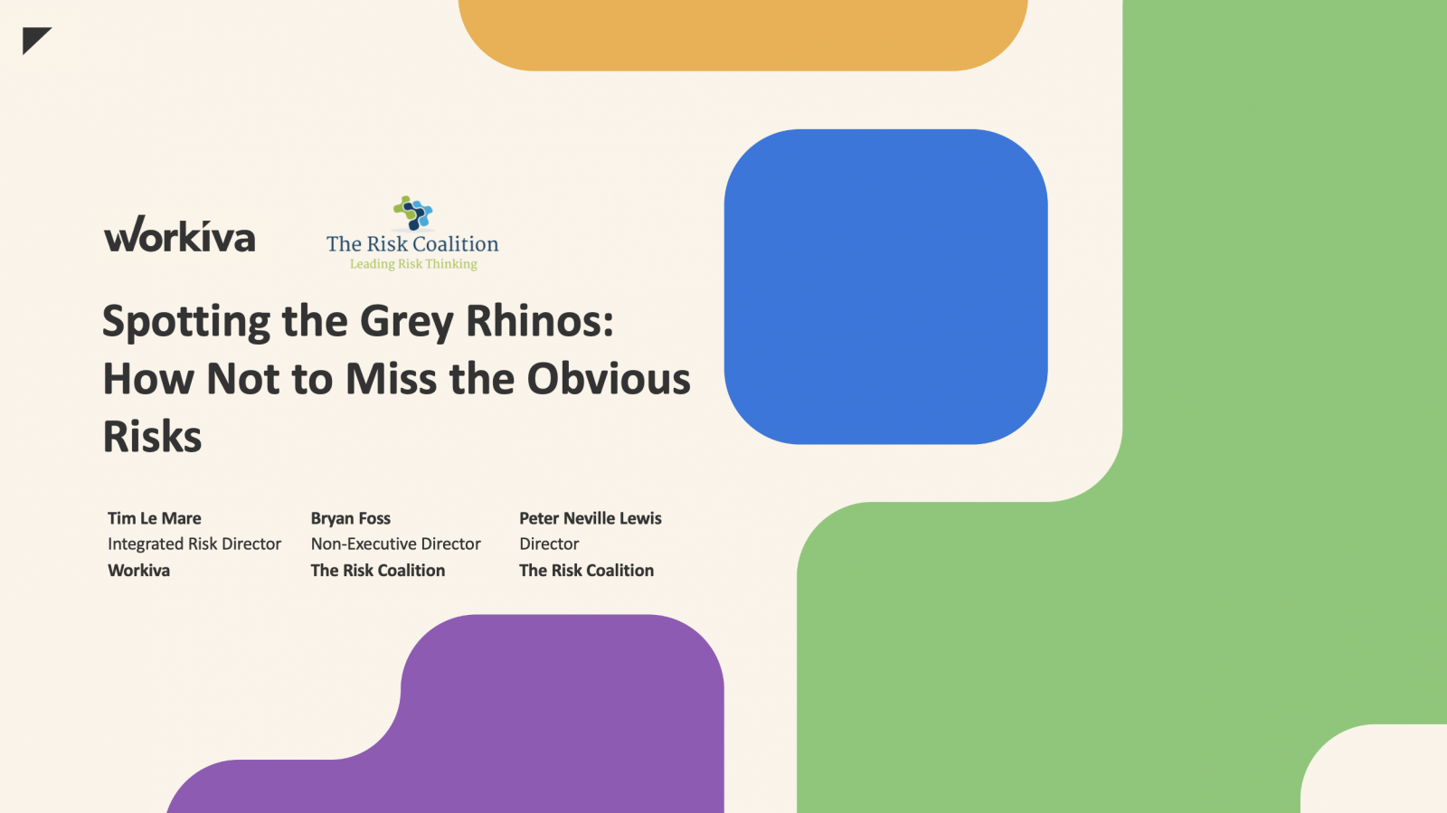Spotting the Grey Rhinos webinar