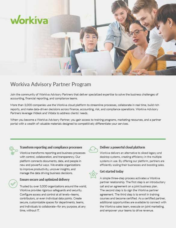 Advisory Partner Program Overview