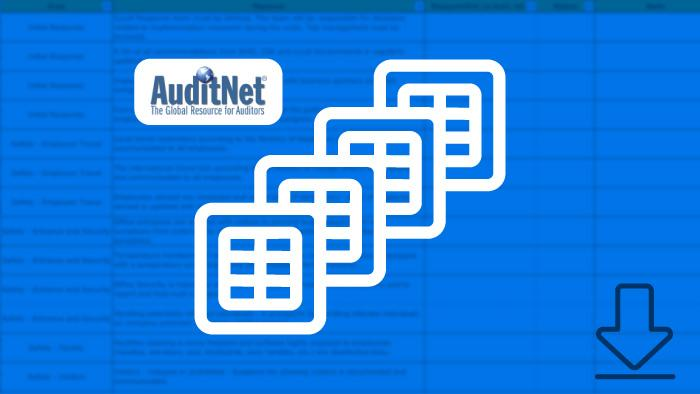 AuditNet logo and spreadsheet image