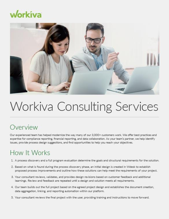 Workiva Consulting Services