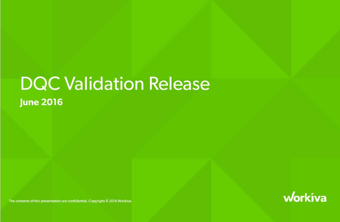 DQC validation release image