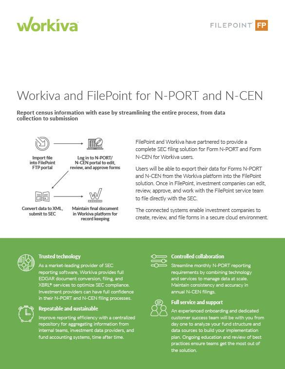 workiva filepoint for N-Port and N-Cen