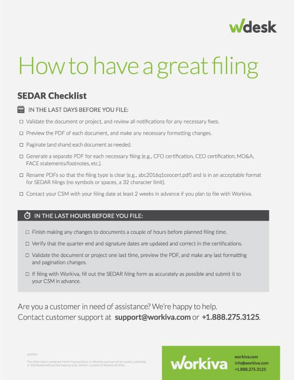 how to have a great sedar filing