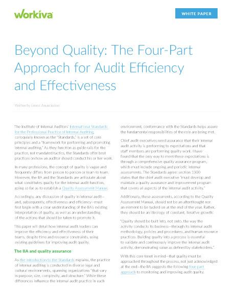 internal audit effectiveness white paper