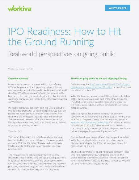 IPO Readiness: How to Hit the Ground Running Real-world perspectives on going public