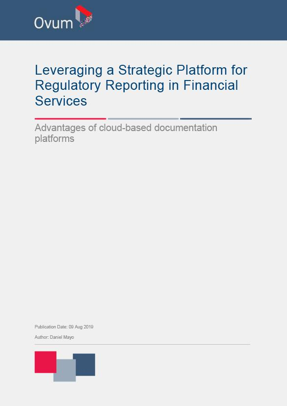 Leveraging a Strategic Platform for Regulatory Reporting in Financial Services