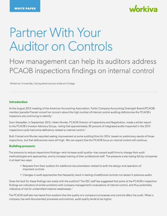 Partner with your auditor on controls