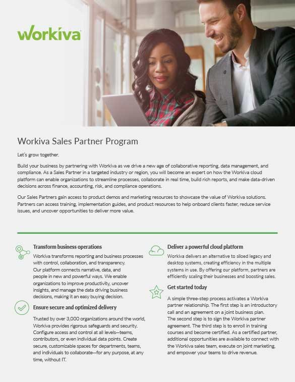 Sales Partner Program Overview