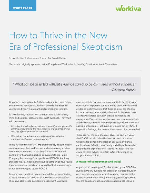 How to thrive in the new era of professional skepticism