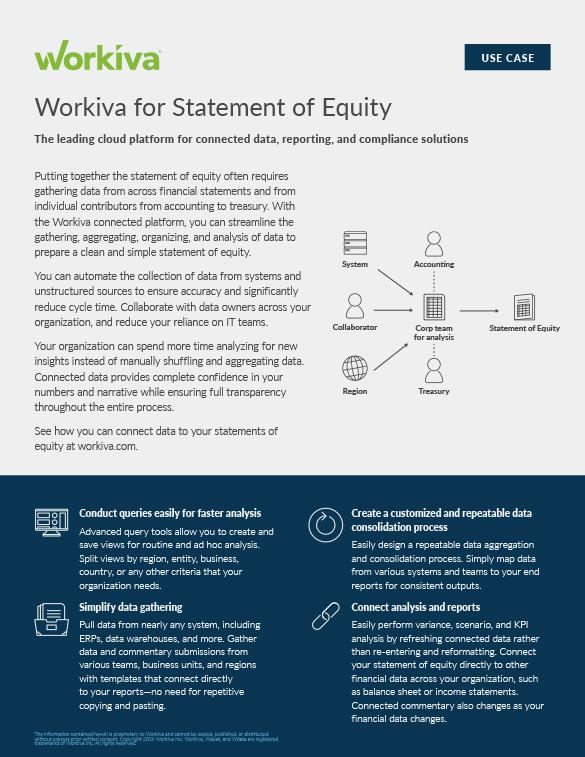 Statements of Equity Datasheet
